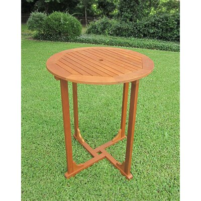 International Caravan Royal Tahiti Bar Height Round Patio Dining Table