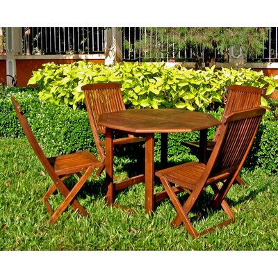 International Caravan Highland 5-Piece Acacia Patio Complete Dining Set