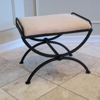 International Caravan Contemporary Indoor Vanity Stool