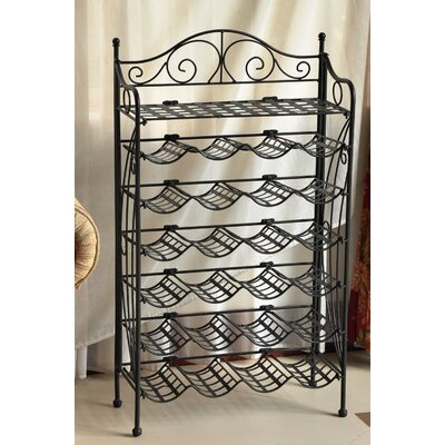 International Caravan Wrought Iron 24-Bottle Indoor/Outdoor Wine Rack