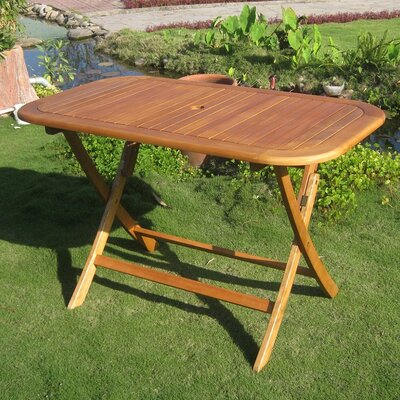 Royal Tahiti Balau Folding Patio Dining Table Reviews Wayfair
