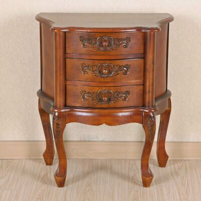 Shangri-La 3 Drawer Nightstand