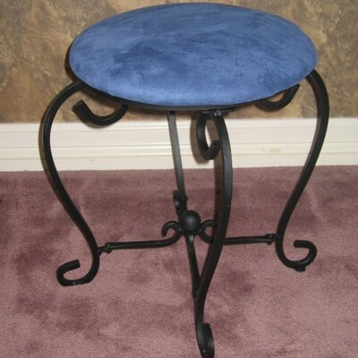 International Caravan Iron Patio Vanity Stool