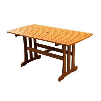 Romo Outdoor Rectangular Wood Patio Table
