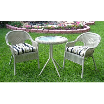 International Caravan Somerset 3 Piece Dining Set
