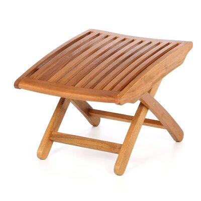 International Caravan Balau Wood Folding Ottoman