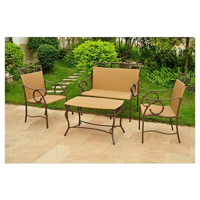 <strong>International Caravan</strong> Valencia 4 Piece Patio Lounge Seating Group