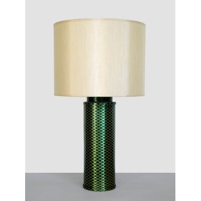 Babette Holland Emerald Matrix Table Lamp with Pebble Shade in Gold and Emerald