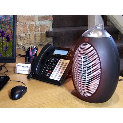 Cozy Products Eco-Save 375-750 Watt Ceramic Compact Desktop Space Heater with Adjustable Thermostat