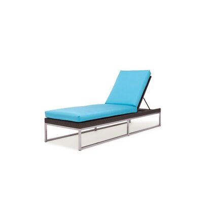 Home loft concept montenegro adjustable chaise lounge with for Bella flora double chaise lounge