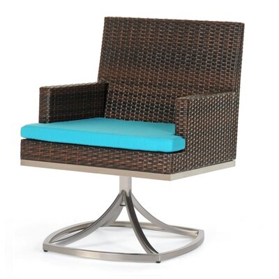 Caluco LLC Mirabella Dining Swivel Arm Chair with Cushion
