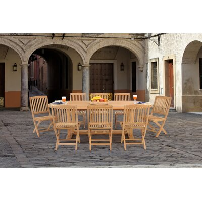Caluco LLC Teak 9 Pc Dining Set