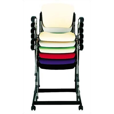 Via Seating Cali Stack Chair with Black Frame