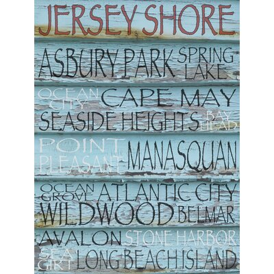 New Jersey Down The Shore - Jersey Shore Textual Art on Canvas