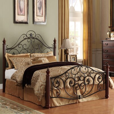 Monterey Graceful Scroll Platform Bed