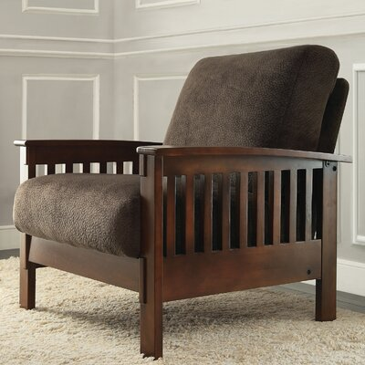 Warner Mission Fabric Arm Chair and Ottoman
