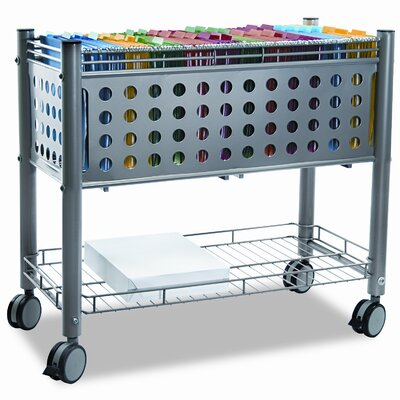Vertiflex Smartworx File Cart with Open Top, 28-1/4 x 13-3/4 x 28-1/4, Gray