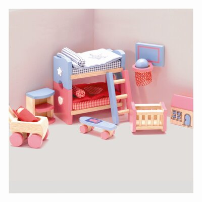 Le Toy Van Bubblegum Doll House Kid's Room Set