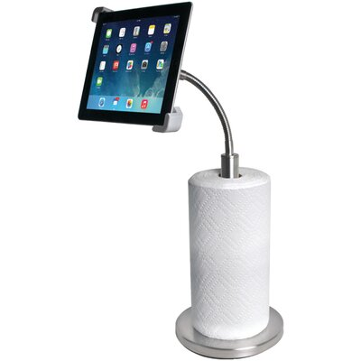 Paper Towel Holder with Gooseneck iPad Stand