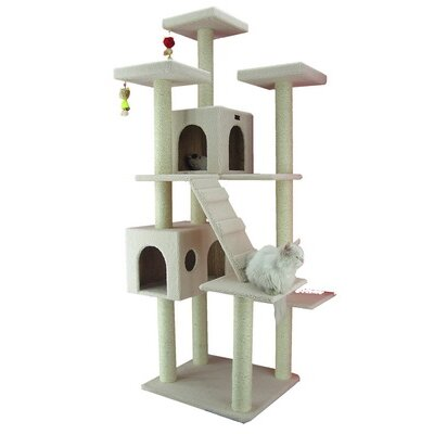 "Armarkat 77"" Classic Cat Tree in Ivory"