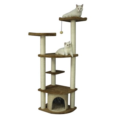 "Armarkat 64"" Cat Tree in Brown"