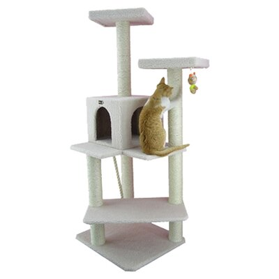 "57"" Classic Cat Tree in Ivory"