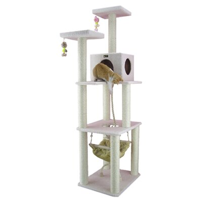 "Armarkat 73"" Classic Cat Tree in Ivory"