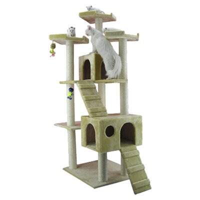 "74"" Classic Cat Tree in Beige"