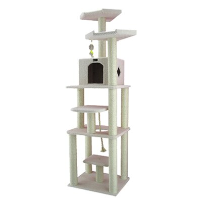 "Armarkat 78"" Classic Cat Tree in Ivory"