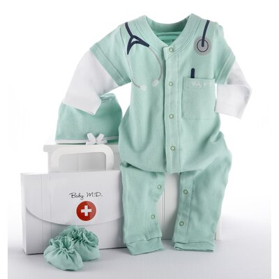 "Baby Aspen ""Big Dreamzzz"" Baby M.D. 3 Piece Layette Set"