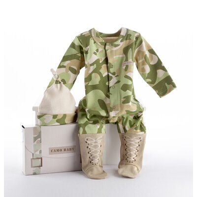 "Baby Aspen ""Big Dreamzzz"" Baby Camo 2 Piece Layette Set"