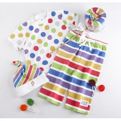 "Baby Aspen ""Lollipop Loungewear"" Three Piece Gift Set"
