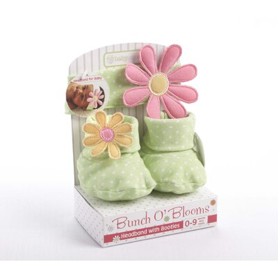 Baby Aspen ''Bunch O' Blooms'' Headbands and Booties