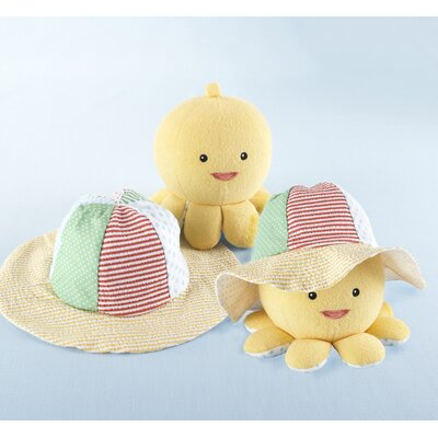 Baby Aspen Under the Sea Baby Sun Hat and Plush Octopus Gift Set