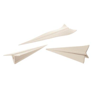 Seletti Memorabilia 3 Piece Porcelain My Plane Figurine Set