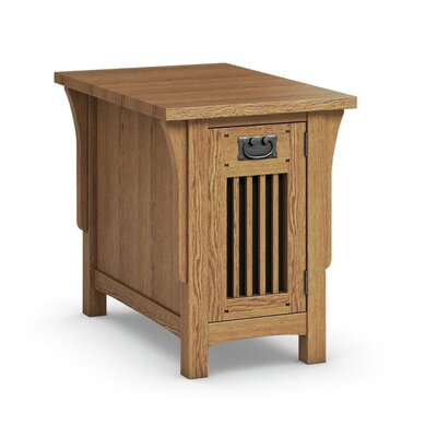 FLW Chairside Table With Drawer