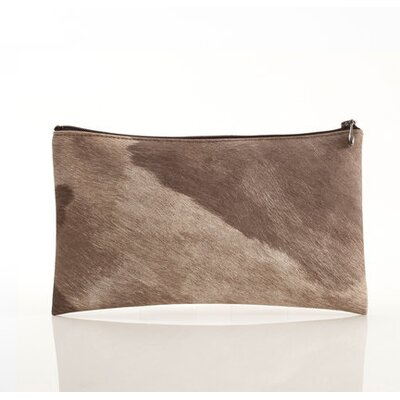 Chilewich Cowhide Zip with Brown Spots