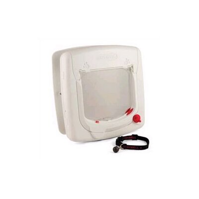 Pet Safe Magnetic White Four-Way Lock Cat Flap