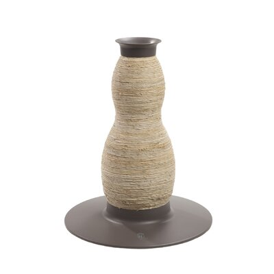 Catit by Hagen Catit Blow Molded Hourglass Corn-husk and Sisal Scratching Post