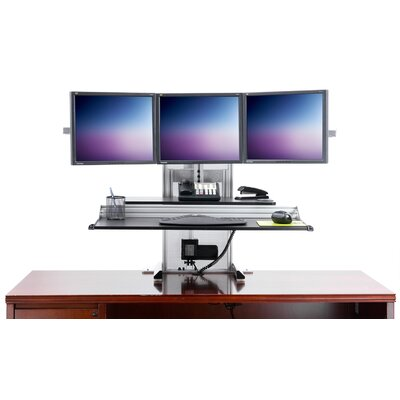 One-Touch Ultra Height Adjustable 4 Screen Desk Mount Set