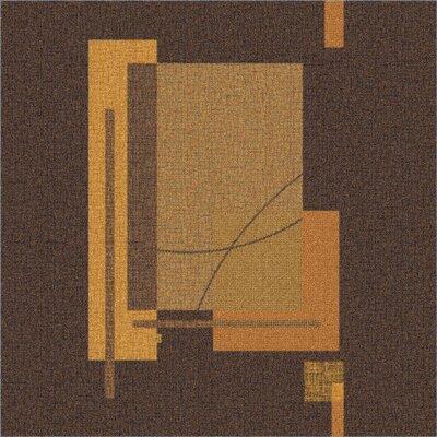 Milliken Pastiche Fairmont Brown Leather Rug