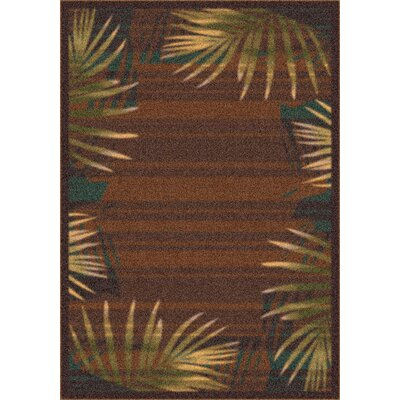 Milliken Modern Times Palm Brown Leather Rug