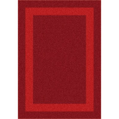 Milliken Modern Times Bailey Tapestry Red Rug