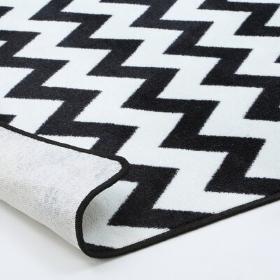 Milliken Black & White Vibe Techno Black Rug