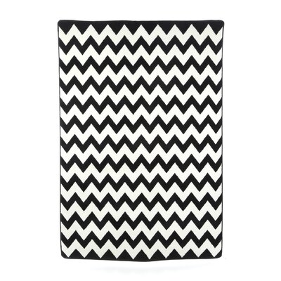 Black & White Vibe Techno Black Rug