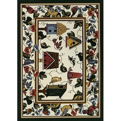 Milliken Spring Seasonal Feathered Friends Novelty Rug