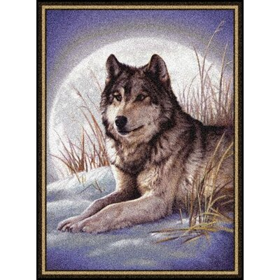 Milliken Hautman Wolf and Moon Mat