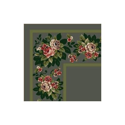 Milliken Design Center Floral Lace Aqua Rug