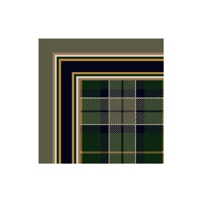 Milliken Design Center Magee Plaid Emerald Rug