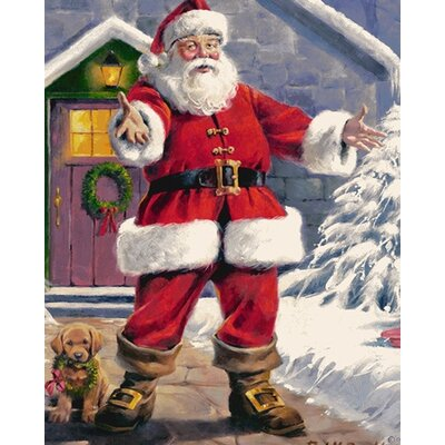 Milliken RJ McDonald Welcome Santa Novelty Rug